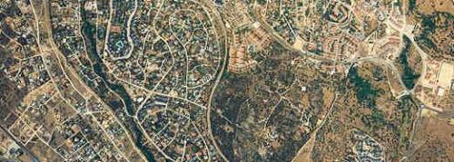Foto aérea del entramado urbano de Alpedrete.