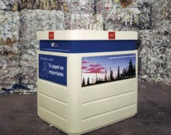 Contenedor para el reciclaje de papel.