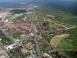 Vista aérea de Las Rozas