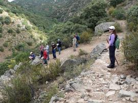 Camineros del Real en plena salida por la Sierra.