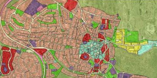 Plano urbanístico de Alpedrete.
