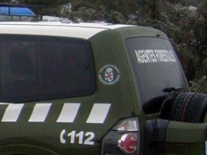 Coche patrulla de los agentes forestales.