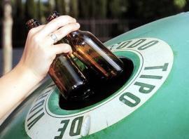 Aumenta el reciclaje de vidrio hasta los 13,5 kilos por habitante.