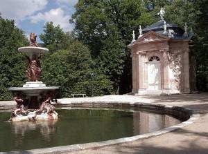 Fuente de los jardines del Real Sitio de La Granja de San Ildefonso.