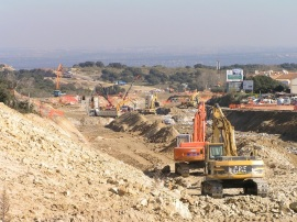 Obras en la M-501 (Foto: Sierra Oeste Desarrollo Sostenible).