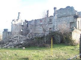 Colapso de uno de los muros del Palacio de Monesterio. (Foto: Entorno Escorial).