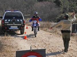 Control realizado por los agentes forestales. (Foto: Apaf-Madrid).