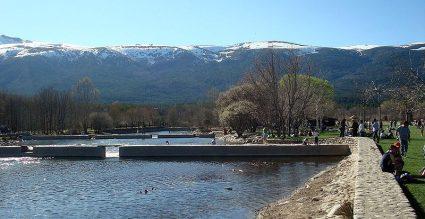 Las Presillas del río Lozoya.