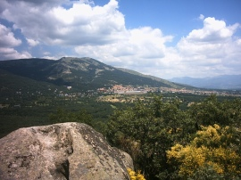 Monte Abantos desde el bosque de La Herrería.