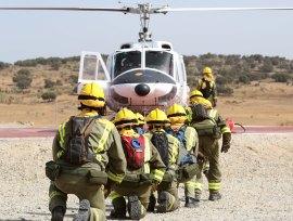 Brigada helitransportada de Navas del Rey. (Foto: CAM).