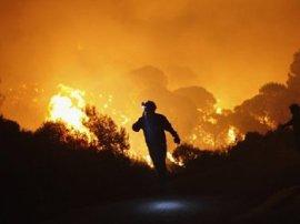 Incendio forestal.