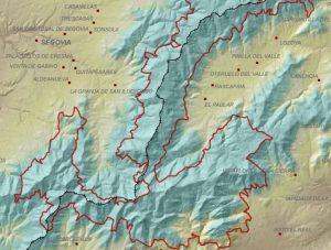 Límites del Parque Nacional de la Sierra de Guadarrama.