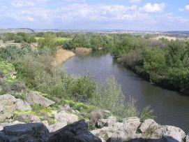 Desembocadura del río Manzanares en el Jarama, uno de los atractivos del Parque Regional del Sureste.