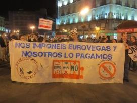 Manifestación contra Eurovegas.