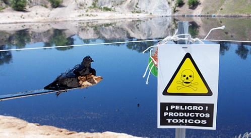 Laguna tóxica de Arganda del Rey. (Foto AEFONA).