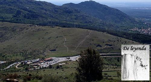Puerto de La Cruz Verde donde se sitúa la extraña aparición de una joven vestida de blanco.