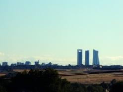 Vista de Madrid desde Algete. (Foto: Vecinos por Algete).