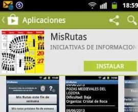 Aspecto de la nueva app de rutas.