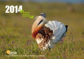 Una de las imágenes del calendario de GREFA.