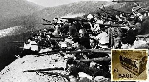 Milicianos en el frente de Guadarrama.