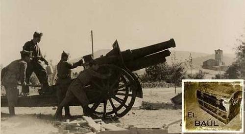 Cañón de la artillería republicana emplazado en el municipio de Guadarrama.