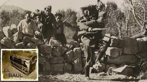 Milicianos y soldados en la toma del Puetro del León.