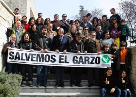 Miembros de la plataforma en defensa de El Garzo.