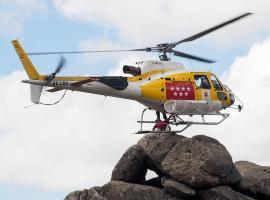 Helicóptero del GERA.