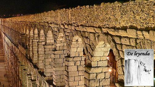 La construcción (legendaria) del Acueducto de Segovia.