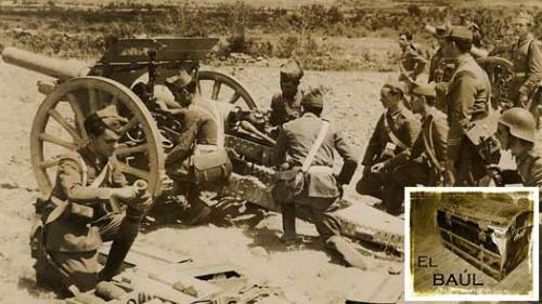Artillería protegiendo un avance.