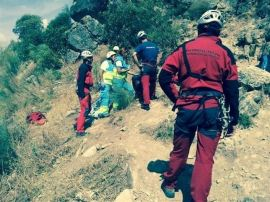 Momento del rescate en Patones. (Emergencias 112).