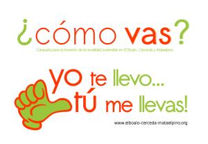 Logo e la campaña de movilidad sostenible.
