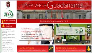Página web del nuevo servicio medioambiental.