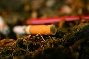 Colilla de un cigarrillo.