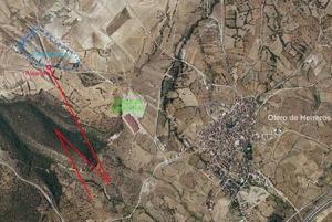 Esquema de la localizacion de la explotación minera.