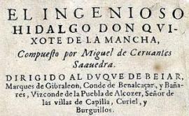Edición de El Quijote.