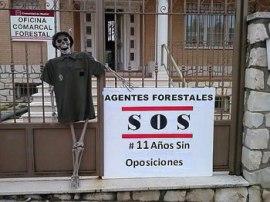 Protesta de los agentes forestales madrileños.