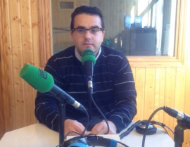 Jonathan Gil durante su entrevista en Onda Cero Sierra. (Foto: Onda Cero Sierra).
