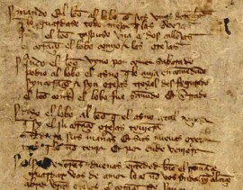 Página manuscrita de El Libro de Buen Amor.