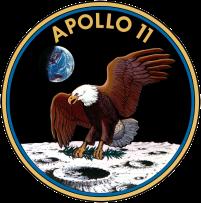Insignia de la misión Apolo 11.
