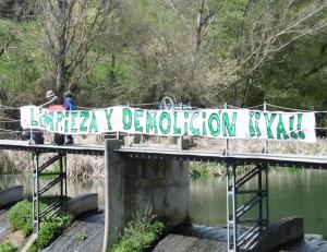 Presa del río Aulencia. (Foto: Ecologistas en Acción).