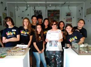 Alumnos del IES Guadarrama galardonados. (Foto: Ayto. Guadarrama).