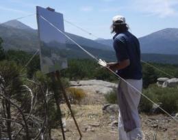 El pintor Alessandro Taiana.