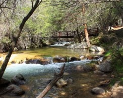 Río Manzanares a su paso por La Pedriza. (Foto: Ayto. Manzanares El Real).