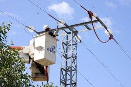 Tendido eléctrico en el que se han aplicado las mejoras ambientales. (Foto: Colectivo Azálvaro).
