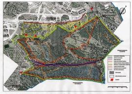 Plano del Monte del Pilar.