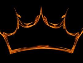 Corona en llamas