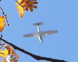Avioneta sobre La Herrería.