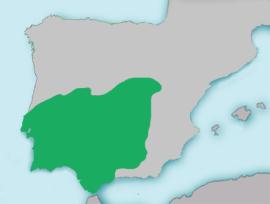 Área de distribución del calandino.