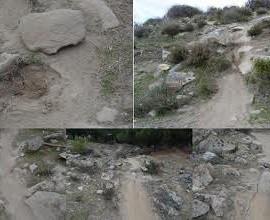 Daños en el Cerro del Tlégrafo denunciados por los conservacionistas. (Foto: Salvemos la Dehesa).